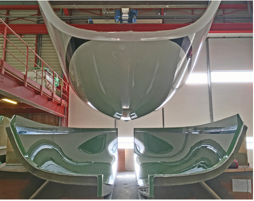 J/99 hull #1 released from the mold