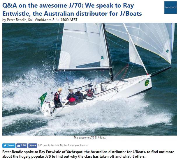 Peter Rendle - J70 interview
