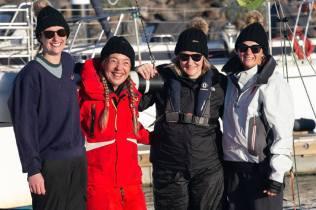 Winning crew of J/70 Spike